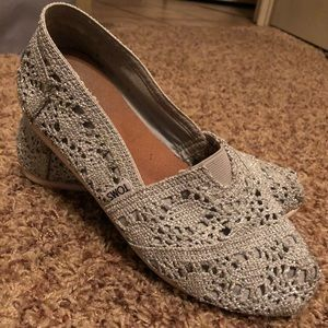 Silver Knit Toms